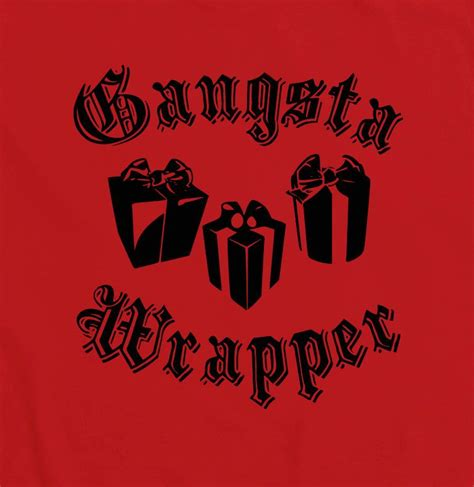 Tshirt Gangsta Rap gangsta wrapper t shirt witty tshirt comedy