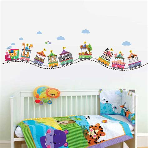 3d Wall Stickers For Kids sticker le train circus number sticker chambre enfant