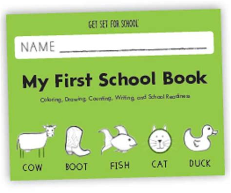 Handwriting Without Tears: My First School Book (Pre K