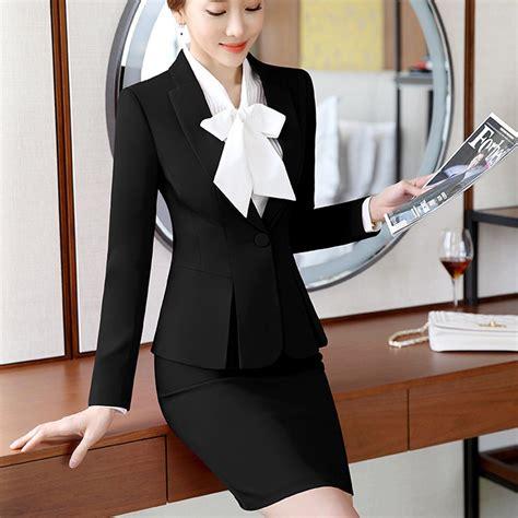 Shirt Set Blazer Skirt Dress design blazer with formal shirt and skirt or