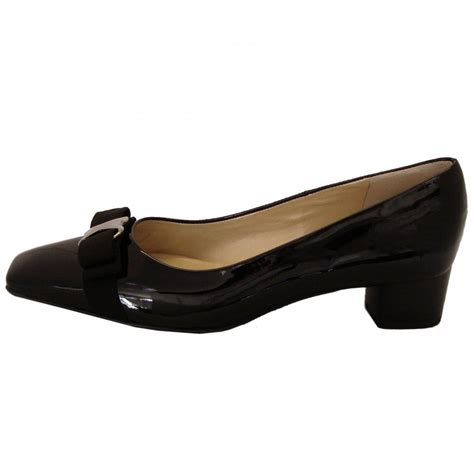 Peter Kaiser Balla   Black patent court shoes   Low heel
