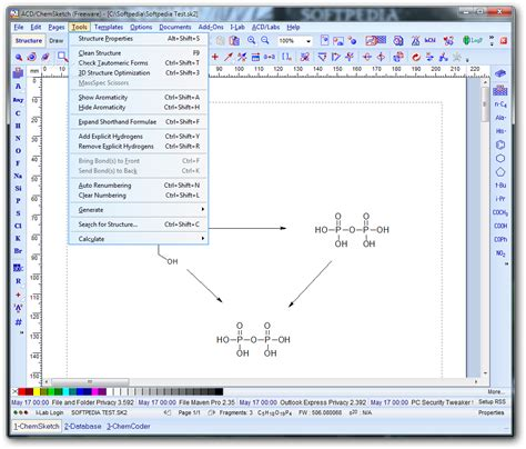 free program for drawing free chemical drawing software acd chemsketch free