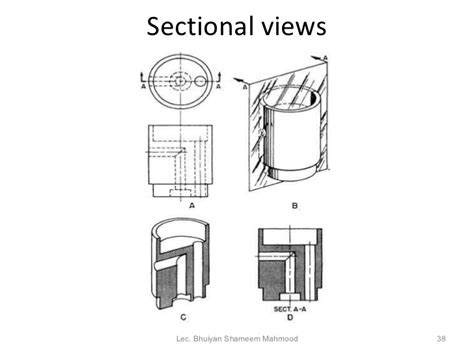 drawing section view rules engineering drawing