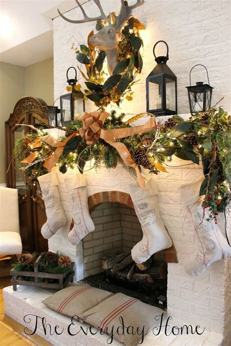christmas mantel decor inspiration 50 christmas mantles for some serious decorating inspiration