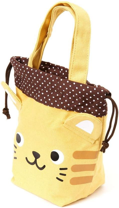 Other Designers Free Hello Tote With Your Hello Purchase by Yellow Linen Handbag With Cat Purses Handbags