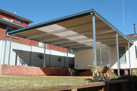 Car Port Roofing by Flat Roof Metal Carport Plans Woodguides