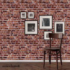 Papier Peint Industriel 487 by Brick Self Adhesive Fabric Wallpaper Repositionable