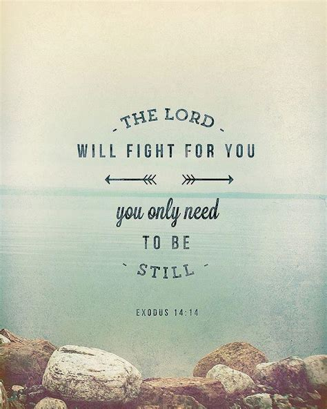 the lord will fight for you you only need to be still