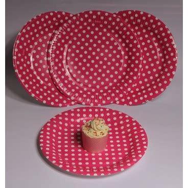 Piring Kue Motif Polkadot piring kertas pink polkadot pestaseru toko grosir perlengkapan pesta