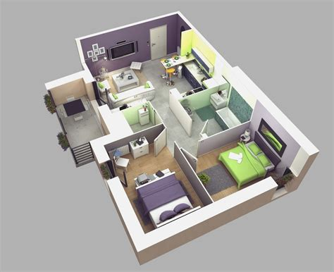 small house 3d plans 1 bedroom house plans 3d just the two of us gt apartment ideas pinterest