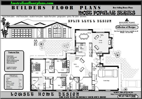 4 level split floor plans australian houses 4 bed with 2 living areas split level
