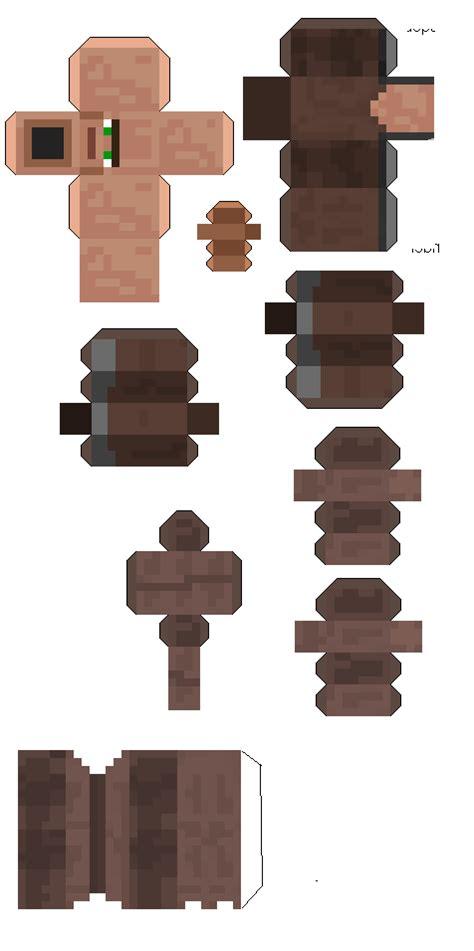 Minecraft Papercraft Villager - papercraft villagers