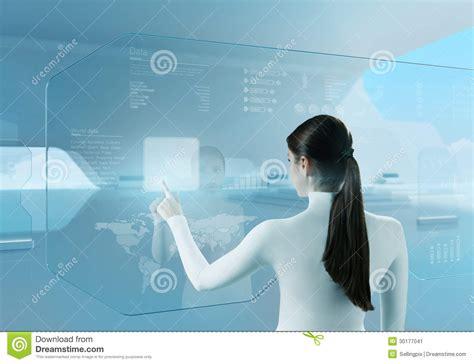future technologie interface d 233 cran tactile de bouton