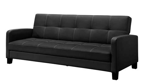 Delaney Sofa Sleeper Dhp Furniture Delaney Sofa Sleeper With Arms Black