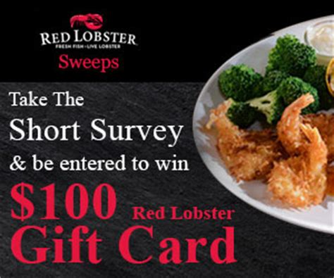 Red Lobster Gift Card Promotion - win a 100 red lobster gift card us only