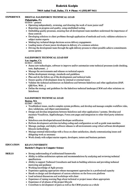salesforce sle resume salesforce resume sle resume ideas