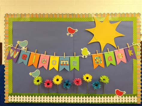 bulletin board sets supplies classroom bulletin boards spring theme welcome back to school bulletin boards