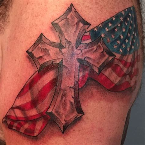 cross tattoo with american flag 17 best images about cool tattoos on ink