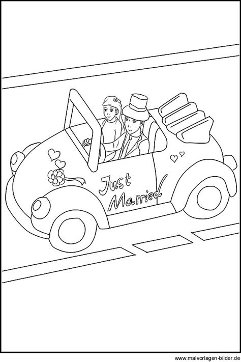 free coloring pages of just married