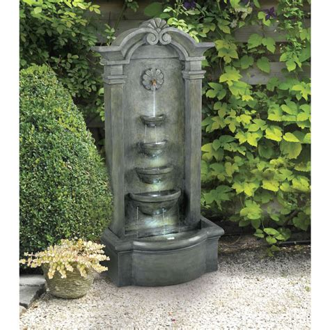 Outdoor Decor Garden Fountains Outdoor Floor Mossy Garden Patio Lawn Waterfall Decor Ebay