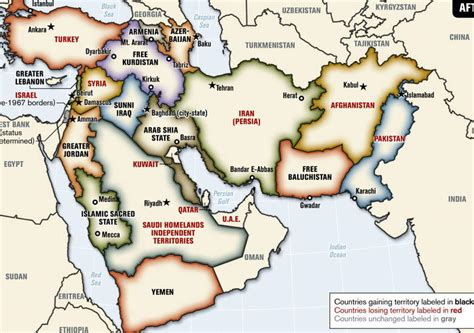 middle east map redrawn an intriguing idea redrawing the muslim world map