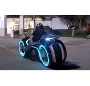 Real Electric Tron Light Cycle Rolls Up To Suburbia