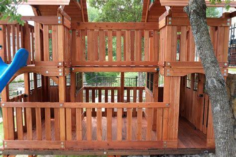 wooden swing set with bridge custom built texas wooden swing sets