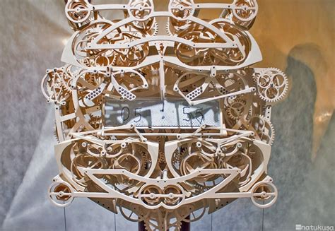 art students  piece hand carved wooden clock literally