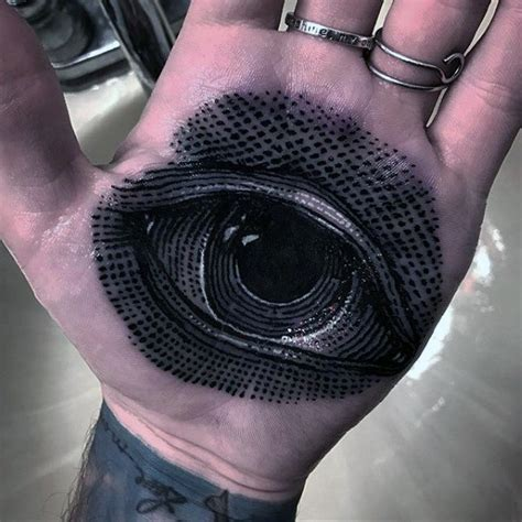 eye tattoo palm hand 40 unique hand tattoos for men manly ink design ideas