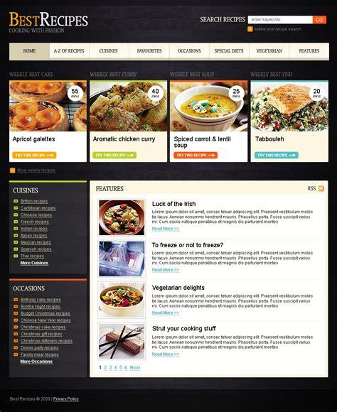 siti di cucina template siti web 23567 per un sito di cucina
