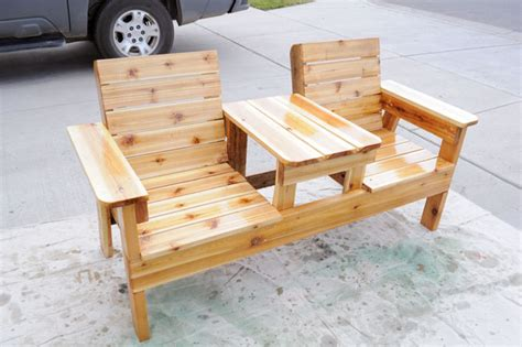 Diy Patio Chair Free Patio Chair Plans How To Build A Chair Bench With Table