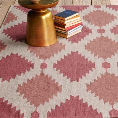 pink dhurrie rug moroccan dhurrie pink ivory wool rug 8 x 10 overstock