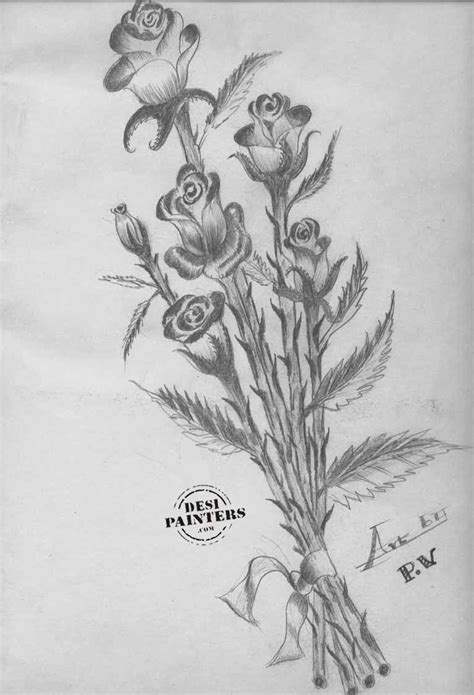 draw 3d online flower pencil sketch 3d drawing of sketch