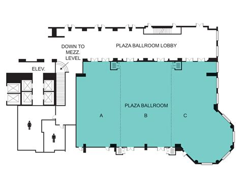 venue floor plan plaza ballroom event venue seaport hotel world trade