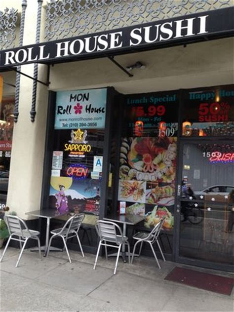 mon roll house outdoor seating picture of mon roll house sushi santa monica tripadvisor