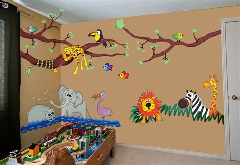 wall stickers jungle theme jungle hangout repositionable stickers shopping 5