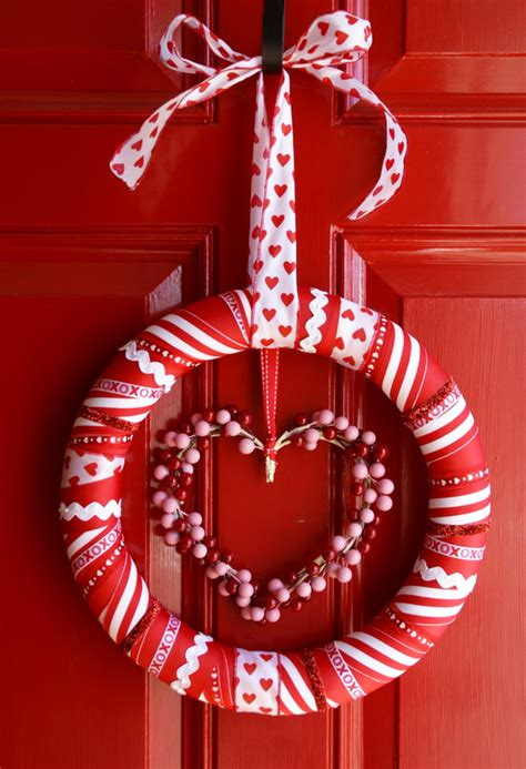 valentines day ribbon the speckled s day ribbon wreath