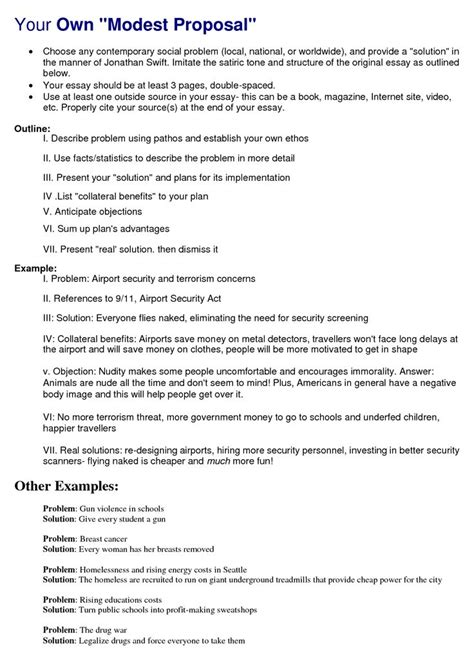 proposal format in english best 25 modest proposal ideas on pinterest ap english