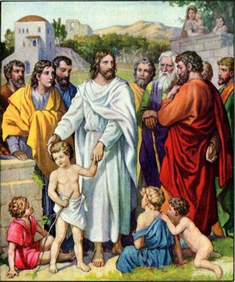 Amazing Church Of Christ Bible Study Material #4: Jesus_and_the_children.jpg