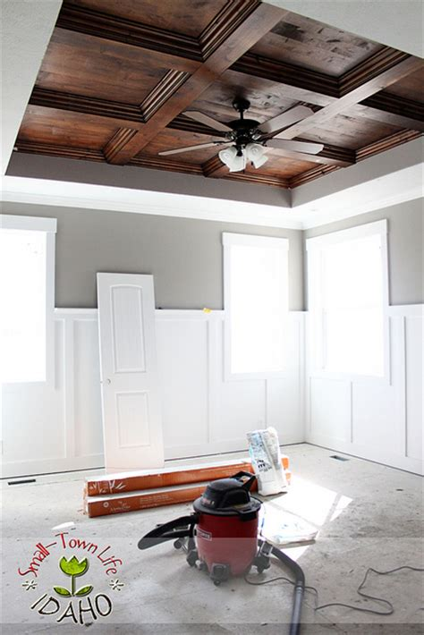 diy coffered ceiling remodelaholic diy beadboard ceiling to replace a