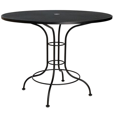 Pictured Is The Mesh Top 48 Quot Round Counter Height Bistro Counter Height Patio Table