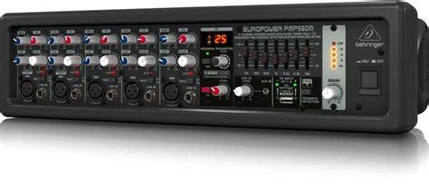 Behringer Pmp550m 500 Watt 5 Channel Power Mixer With Wireless Option behringer pmp550m 500 watt 5 channel powered mixer planet dj