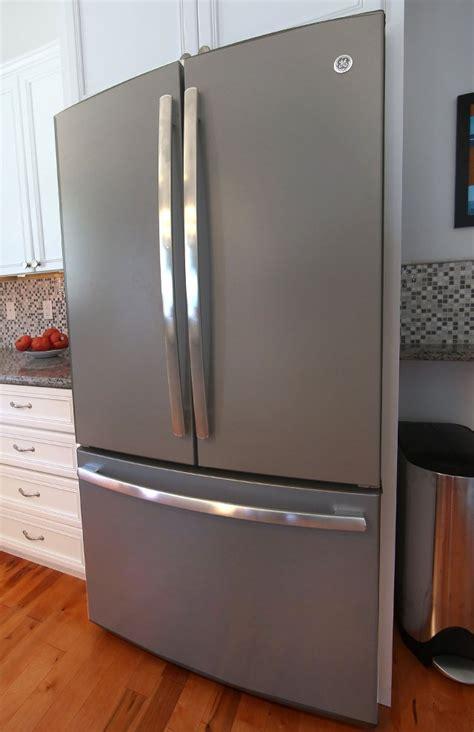 slate colored refrigerators slate appliance finishes inspire hurricane rebuild