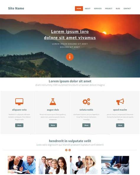 free bootstrap html5 templates 70 free bootstrap html5 website templates 2018