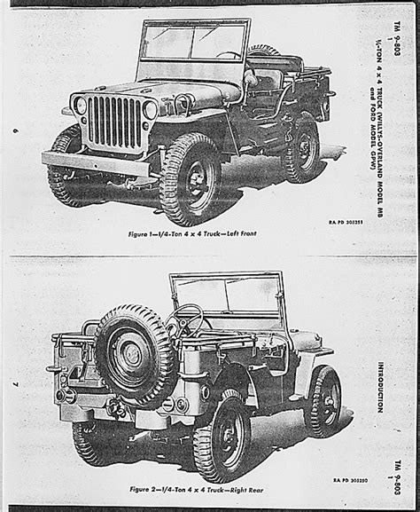 ww2 jeep drawing drawing of mb gpw jeep from tm 9 803 dated 22 february