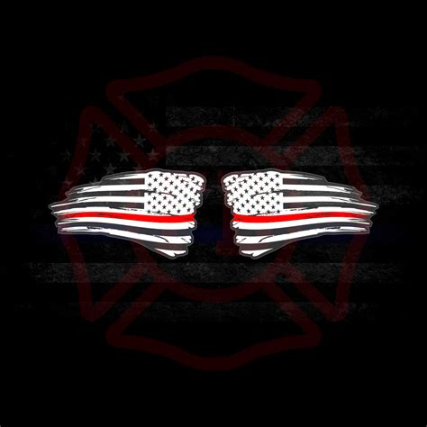 Thin Line Set Of 2 Thin Line Set Of 2 Distressed American Flag Decals White Seven Slat 4 215 4