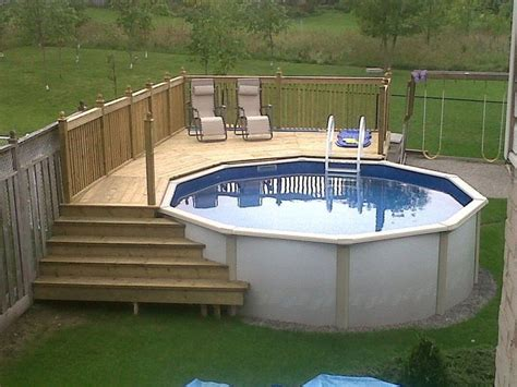 25 best ideas about above ground pool on pinterest above ground pool landscaping swimming emejing deck design ideas for above ground pools pictures
