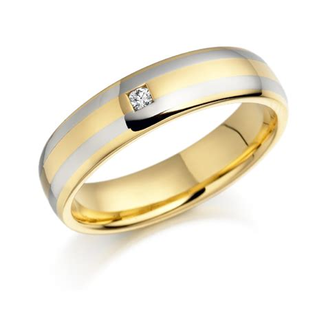 single band engagement rings 18ct yellow and white gold single ring 0