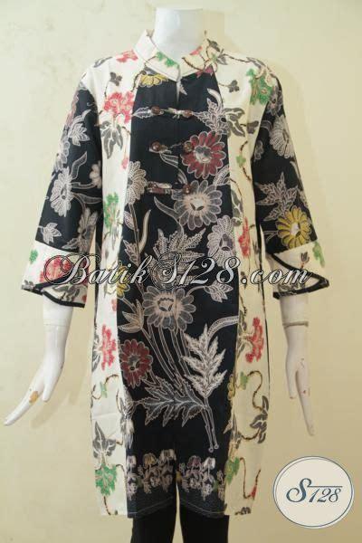 desain baju batik warna hitam busana batik kombinasi warna hitam dan cream batik jawa