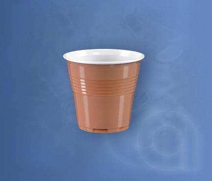 Bicchieri Vending Bicchieri Bicchiere Caff 232 Vending Bicolore Nocciola Bianco